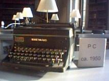 Siemag-Schreibmaschine im LG Braunschweig
